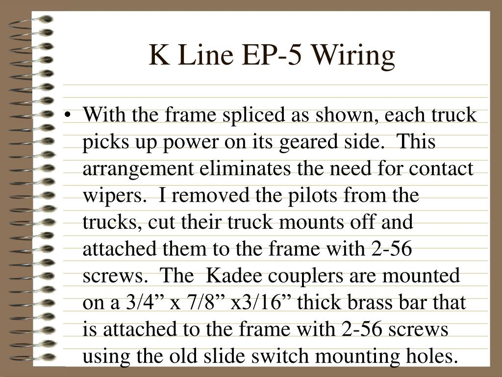 K Line EP-5 Wiring