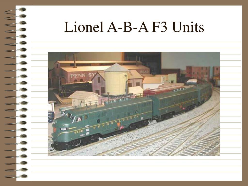 Lionel A-B-A F3 Units