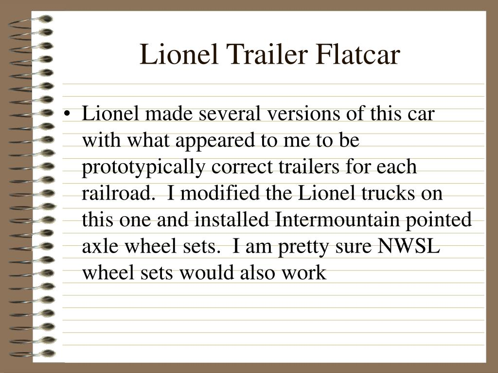 Lionel Trailer Flatcar
