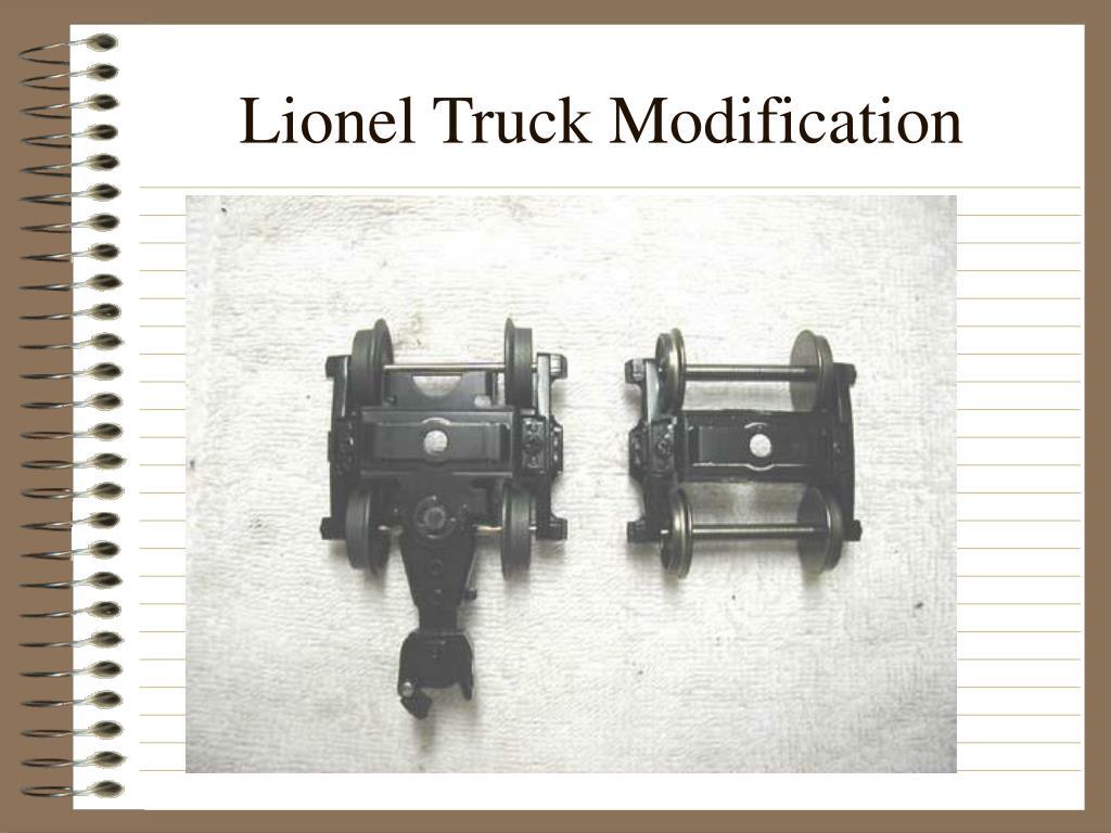 Lionel Truck Modification