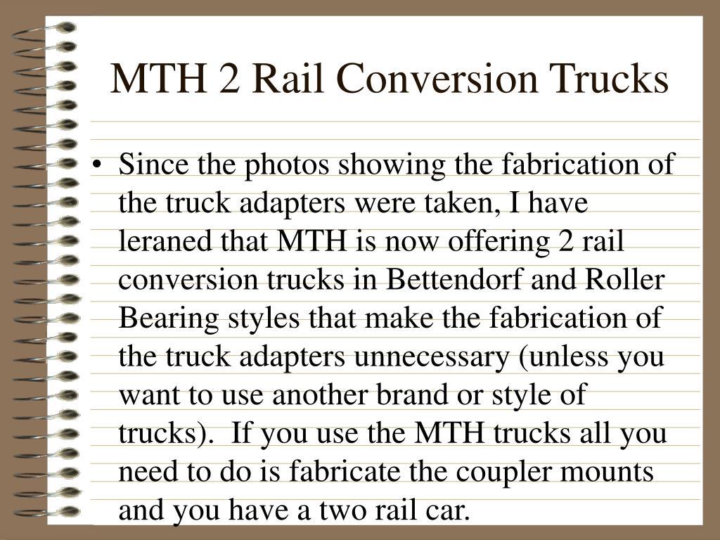 MTH 2 Rail Conversion Trucks