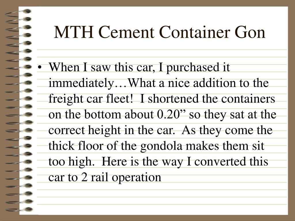 MTH Cement Container Gon