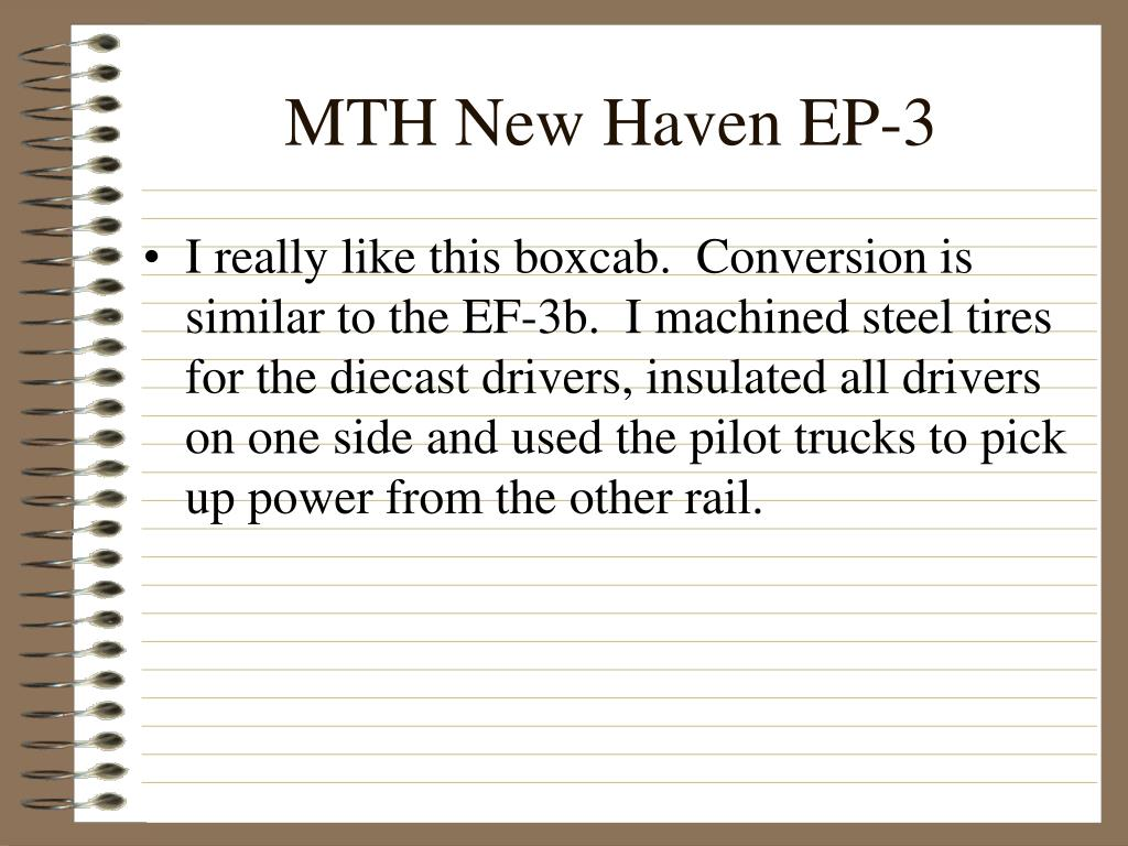 MTH New Haven EP-3