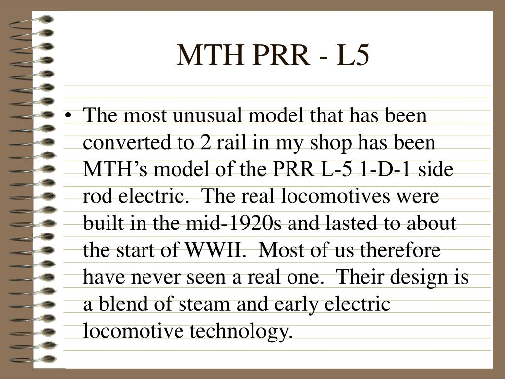MTH PRR - L5