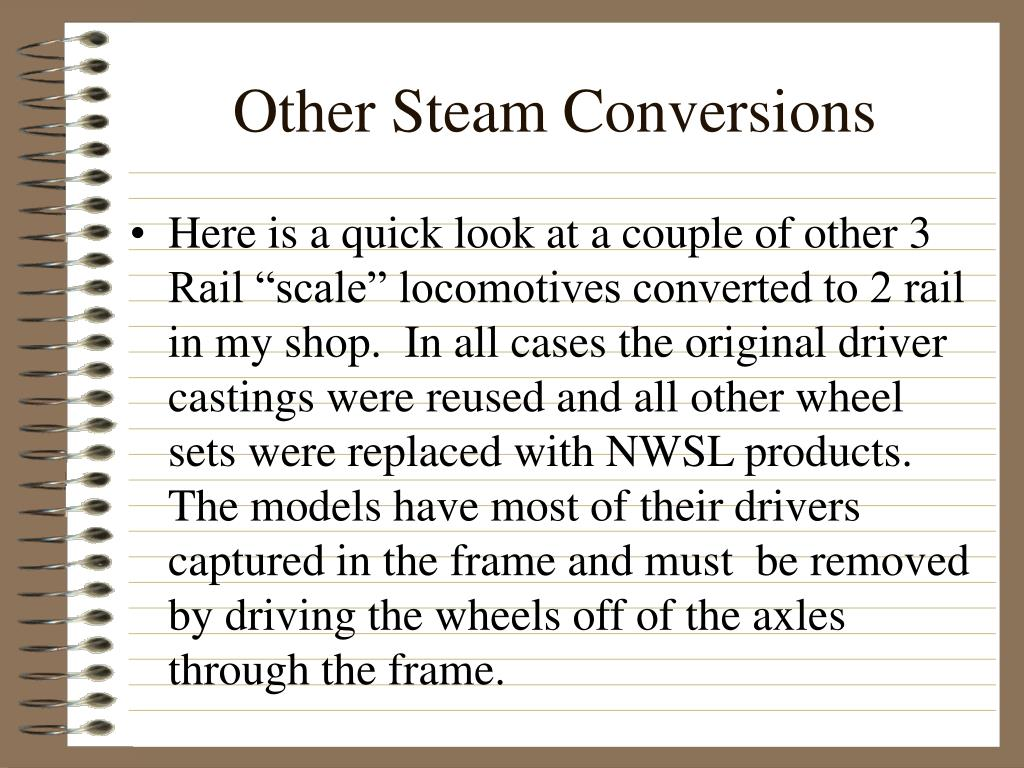 Other Steam Conversions