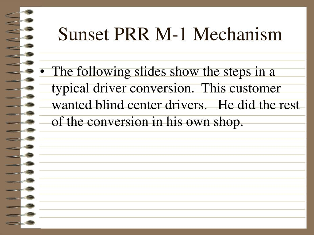 Sunset PRR M-1 Mechanism