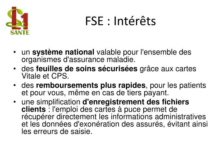 FSE : Intérêts