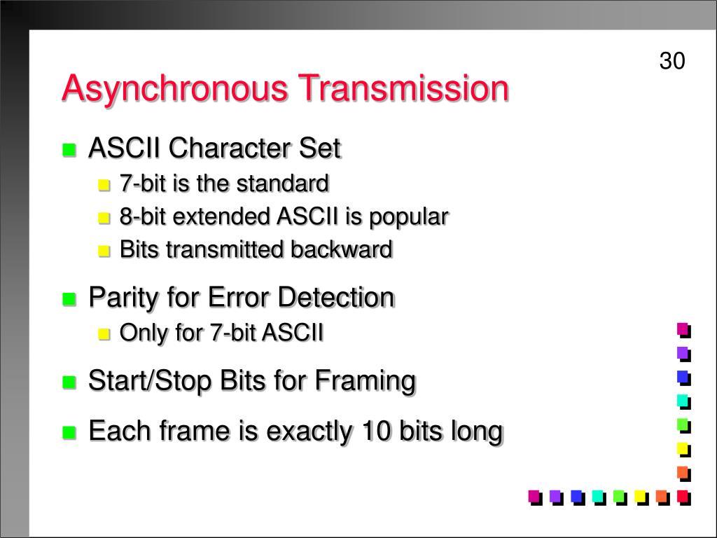 Asynchronous Transmission