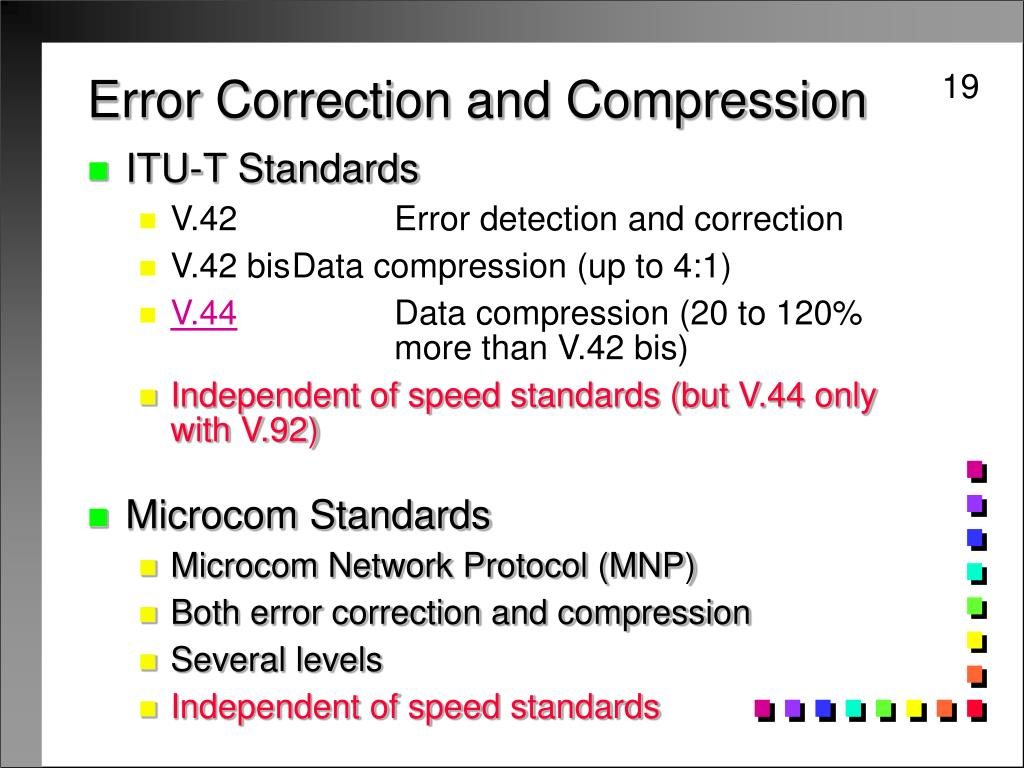 Error Correction and Compression