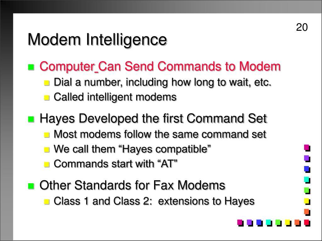 Modem Intelligence