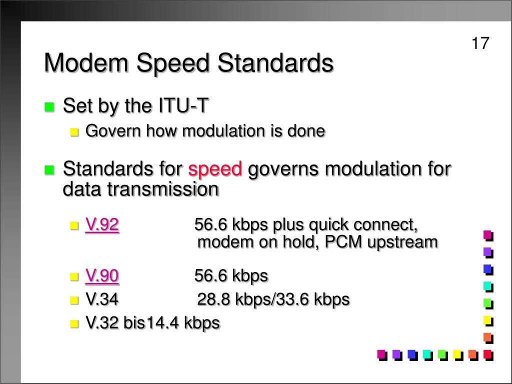 Modem Speed Standards