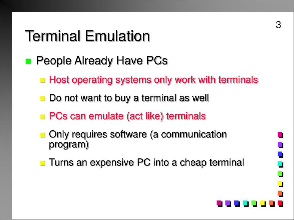Terminal Emulation