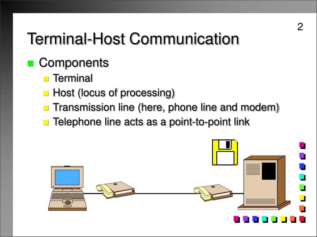 Terminal-Host Communication