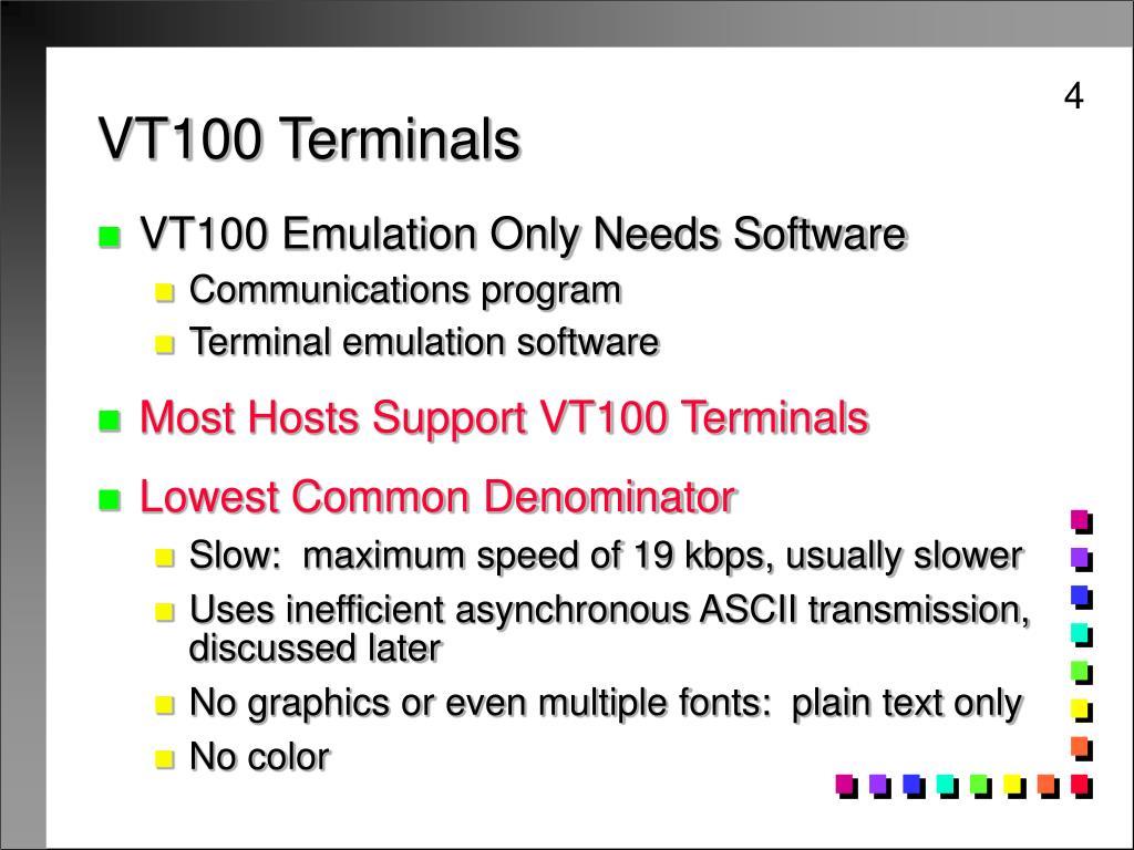 VT100 Terminals