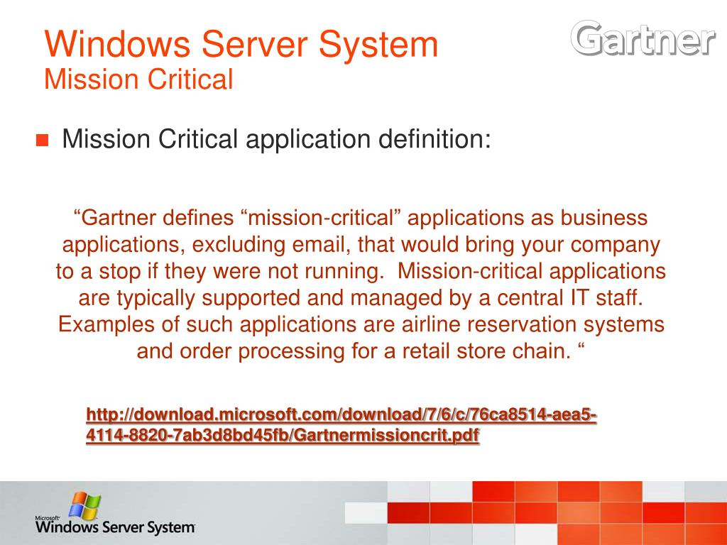 Mission Critical application definition: