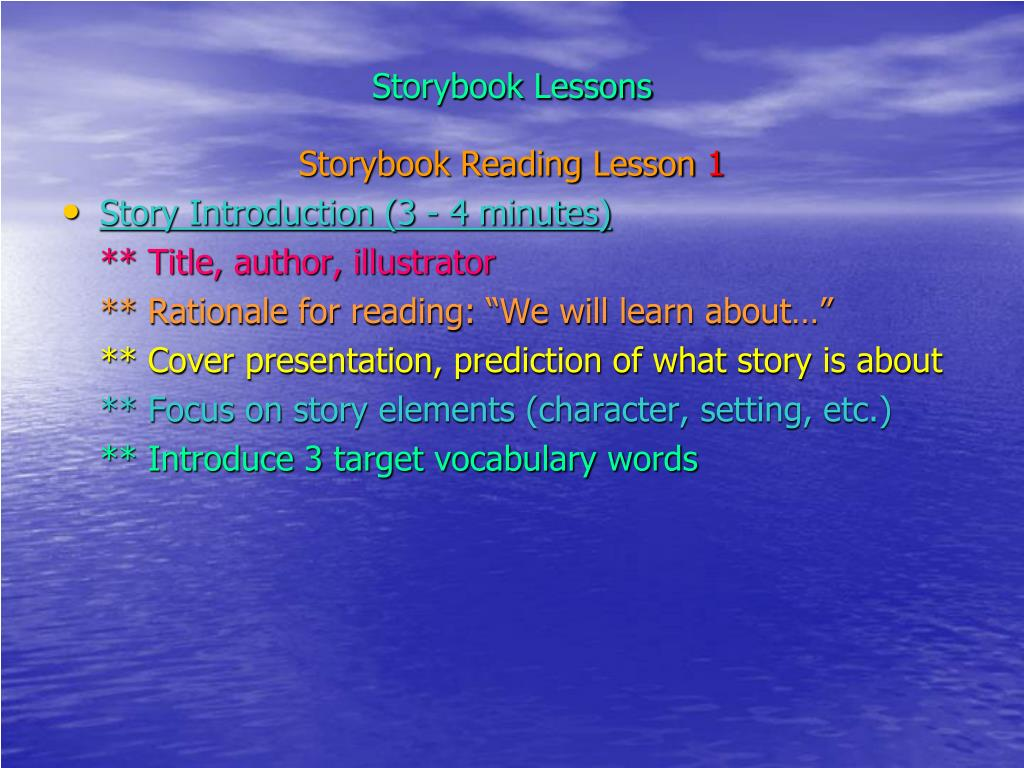 Storybook Lessons