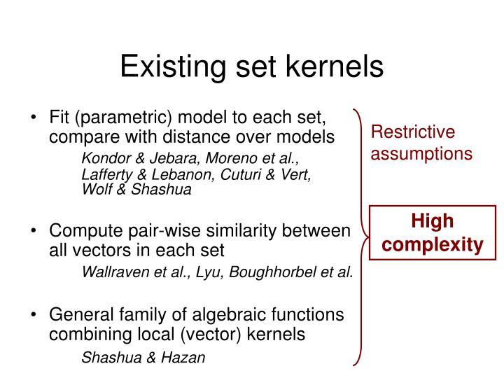 Compute pair-wise similarity between all vectors in each set