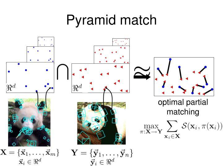 optimal partial matching
