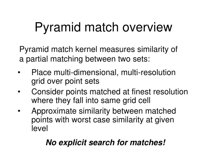 Pyramid match overview