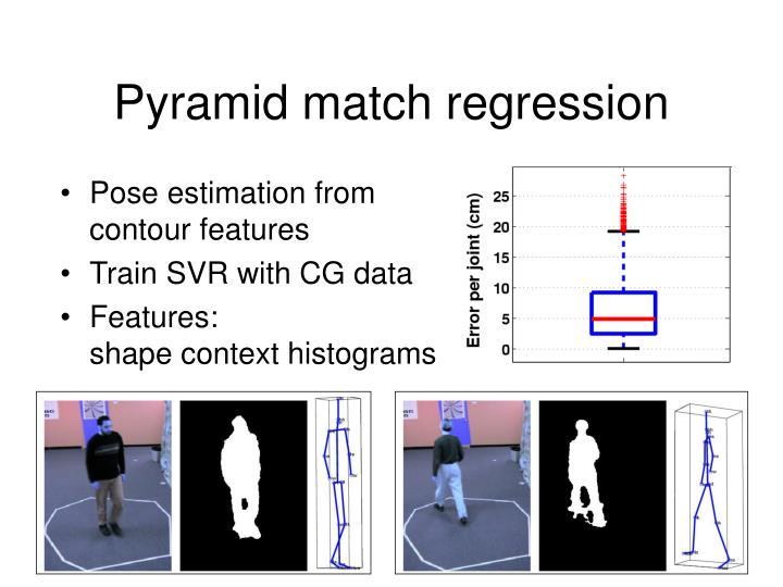 Pyramid match regression
