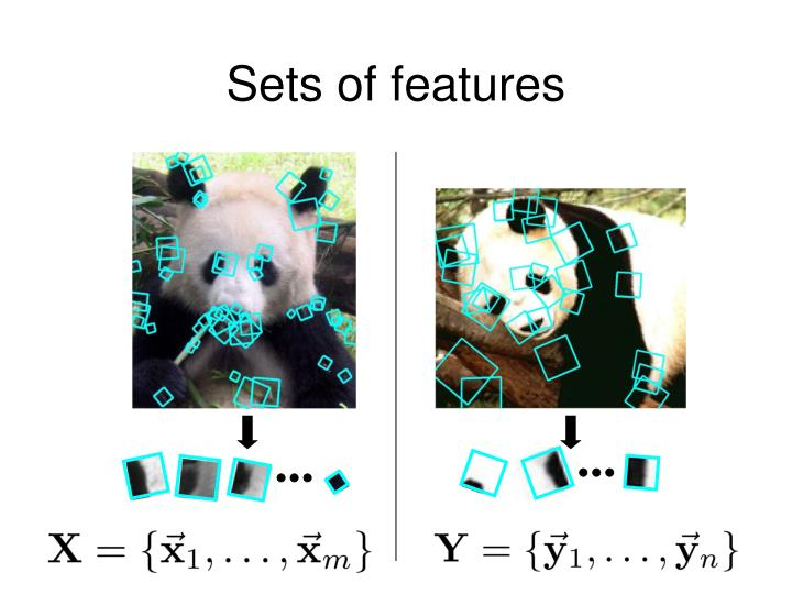 Sets of features