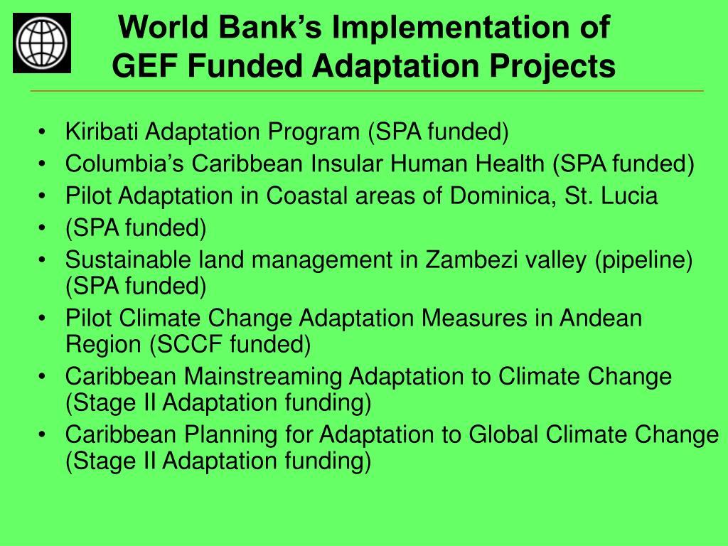 World Bank's Implementation of