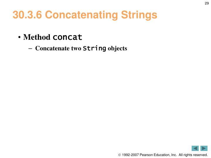 30.3.6 Concatenating Strings