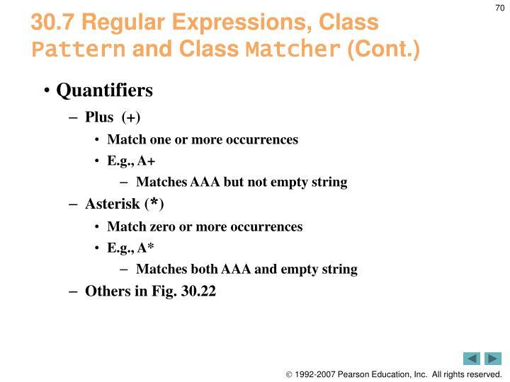 30.7 Regular Expressions, Class