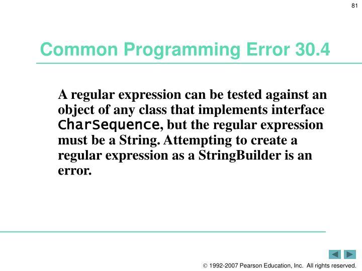 Common Programming Error 30.4