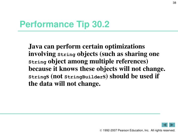 Performance Tip 30.2