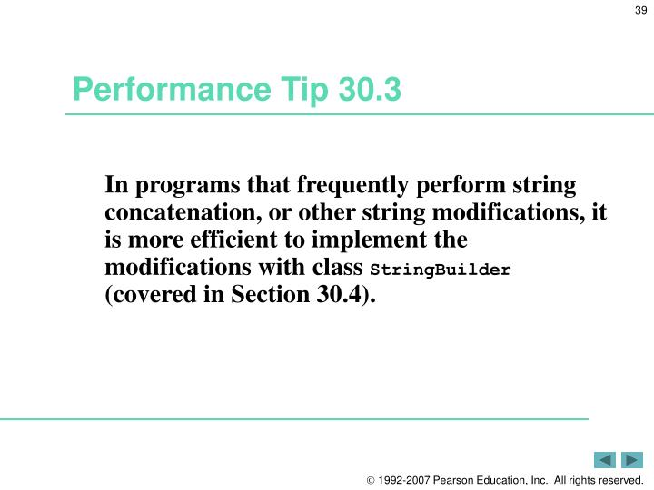 Performance Tip 30.3