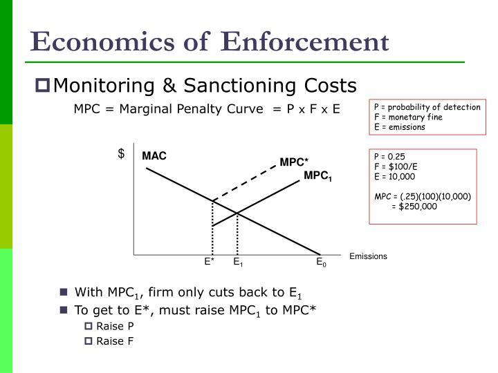 Economics of Enforcement