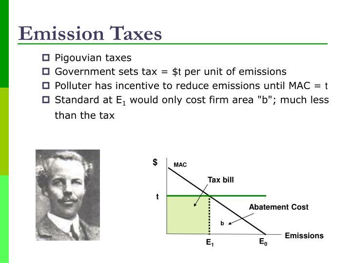 Emission Taxes