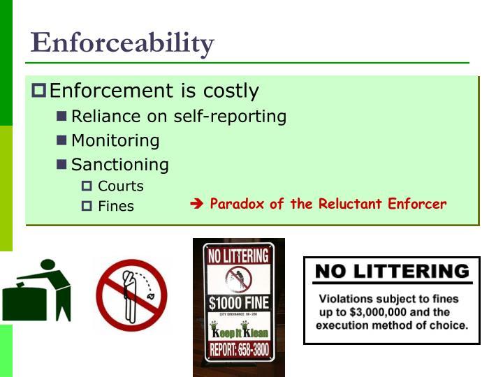Enforceability