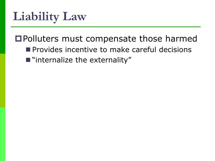Liability Law