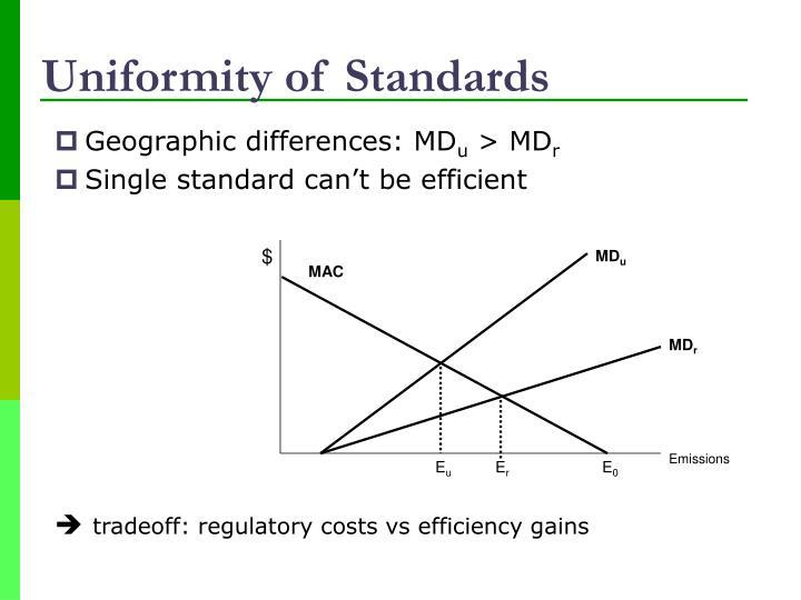 Uniformity of Standards