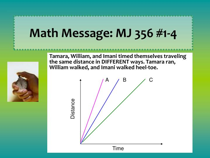 Math Message: MJ 356 #1-4