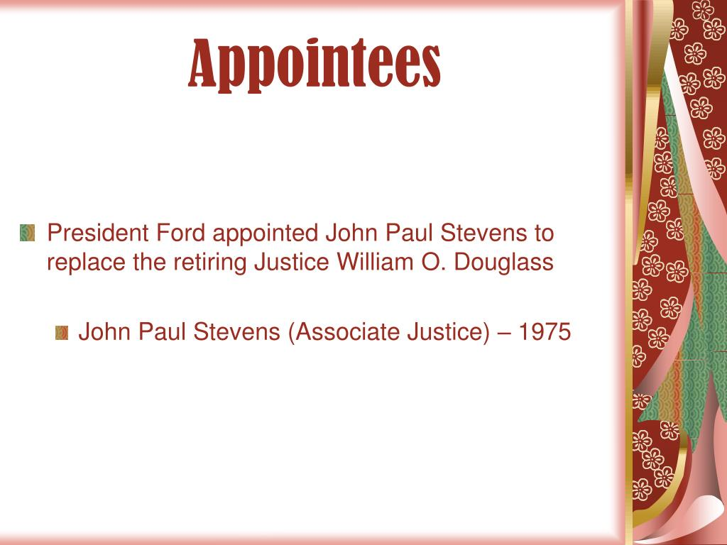 Appointees