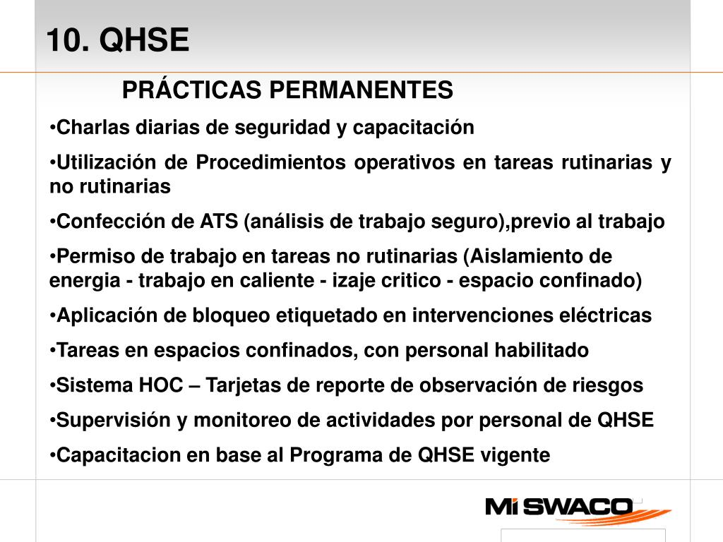 10. QHSE