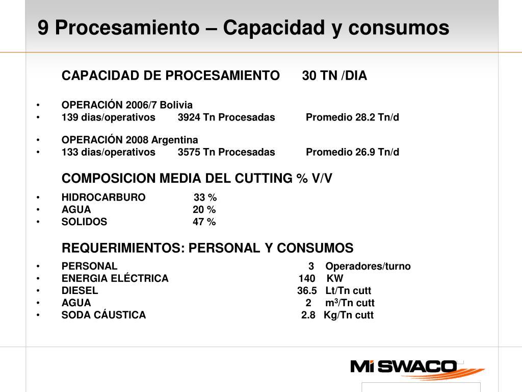 CAPACIDAD DE PROCESAMIENTO      30 TN /DIA