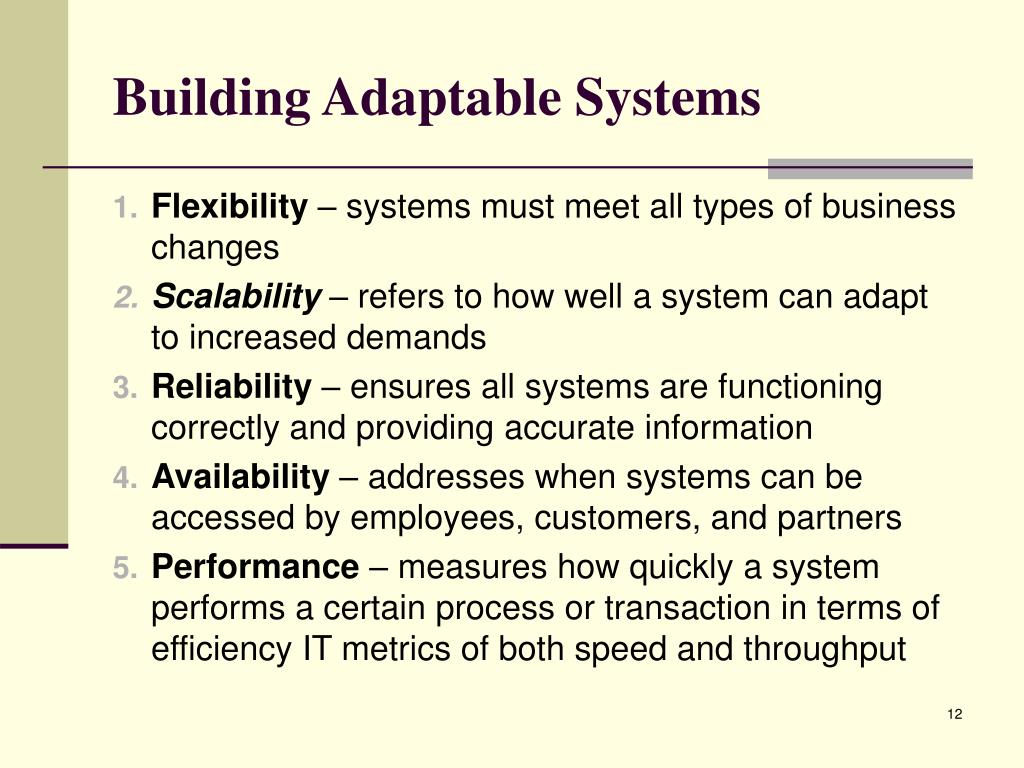 Building Adaptable Systems