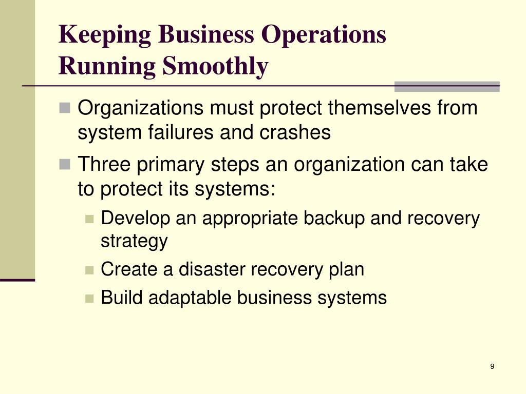 Keeping Business Operations
