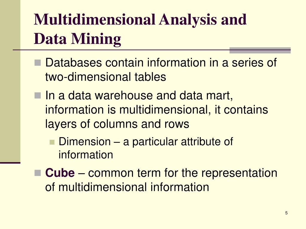 Multidimensional Analysis and