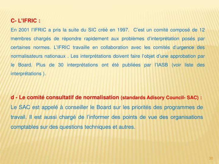 C- L'IFRIC: