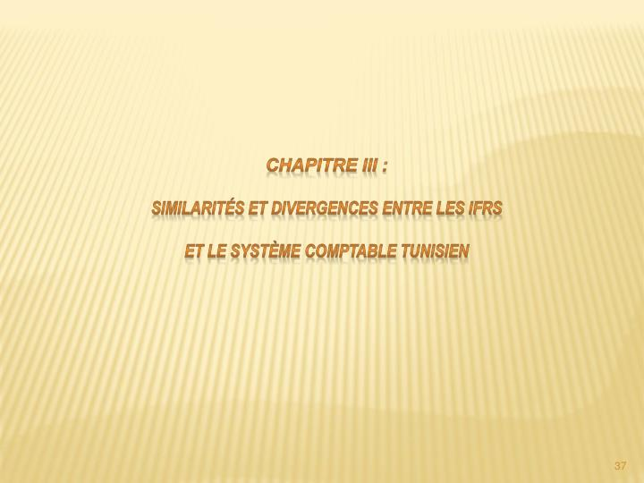 Chapitre III: