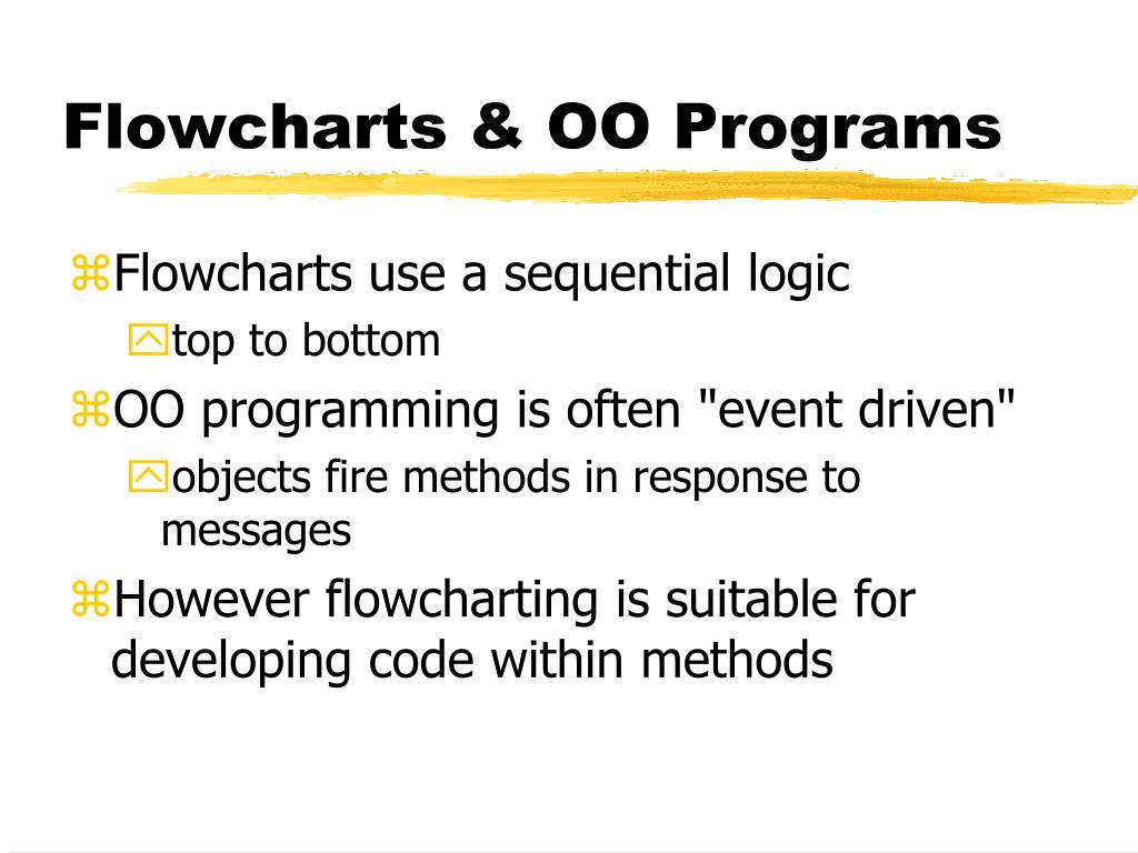 Flowcharts & OO Programs