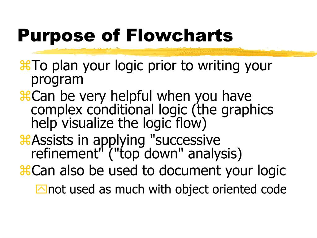 Purpose of Flowcharts
