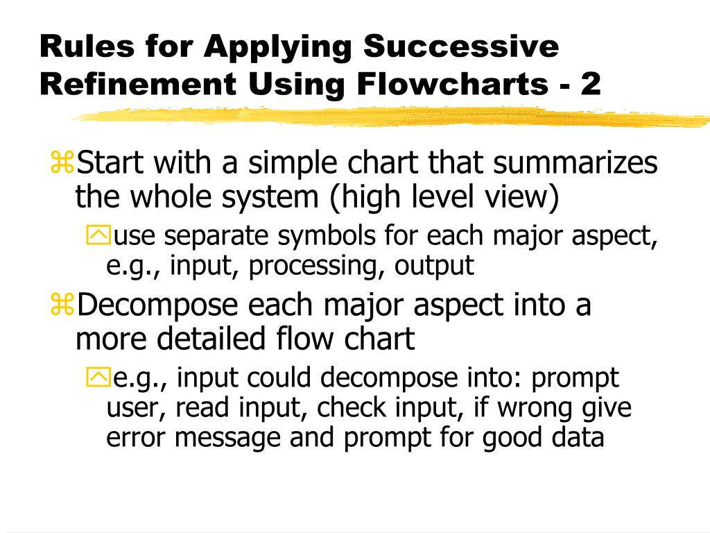 Rules for Applying Successive Refinement Using Flowcharts - 2
