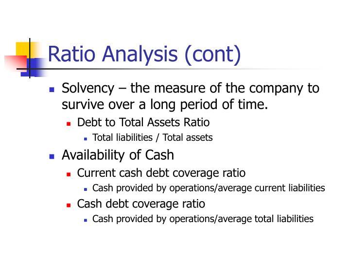 Ratio Analysis (cont)