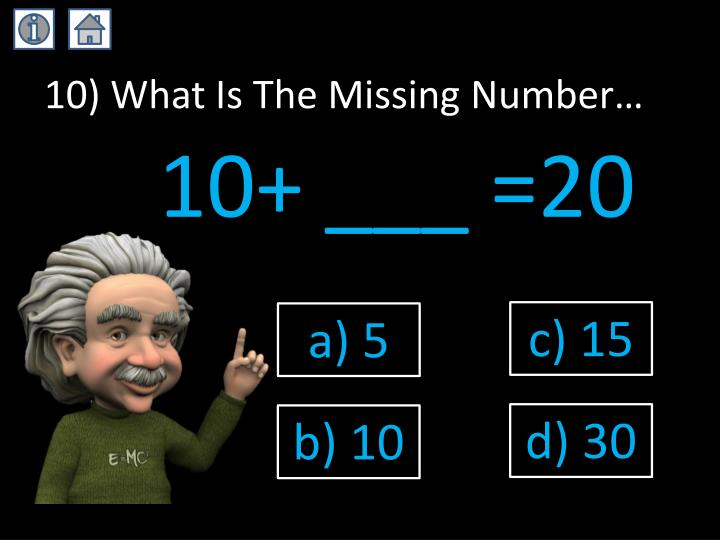 10) What Is The Missing Number…